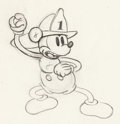 Animation Art:Production Drawing, Mickey's Fire Brigade Mickey Mouse Animation Drawing (WaltDisney, 1935)....