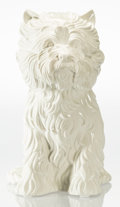 Sculpture, Jeff Koons (b. 1954). Puppy (vase), 1998. White glazed porcelain vase. 17-1/2 x 17-1/2 x 10-1/2 inches (44.5 x 44.5 x 26...