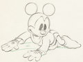Animation Art:Production Drawing, Brave Little Tailor Mickey Mouse Animation Drawing (Walt Disney, 1938)....