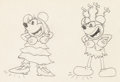 Animation Art:Production Drawing, Mickey's Mellerdrammer Minnie Mouse and Mickey MouseAnimation Drawing (Walt Disney, 1933)....