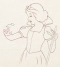 Animation Art:Production Drawing, Snow White and the Seven Dwarfs Animation Drawing (WaltDisney, 1937).. ...