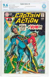 Captain Action #3 (DC, 1969) CBCS NM+ 9.6 Off-white to white pages