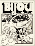 Original Comic Art:Covers, Skip Williamson Bijou Funnies #5 Cover Original Art (Kitchen Sink, 1970)....
