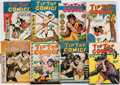 Books:Comics - Golden Age, [Comic Books.] Group of Eight Issues of Tip Top Comics. NewYork: 1937-1938....