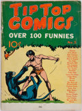 Books:Comics - Golden Age, [Tarzan.] Tip Top Comics, No. 3, July. New York: UnitedFeature Syndicate, 1936. Condition: GD....