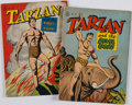 Books:Comics - Golden Age, [Edgar Rice Burroughs.] Pair of Tarzan Comic Issues, #134and #161. New York: Dell Publishing Company, 1947....