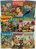 Books:Comics - Golden Age, [Comic Books.] Group of Nine Issues of Edgar Rice Burroughs'Tarzan Comic Books. New York: Dell Publishing, ...