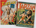Books:Science Fiction & Fantasy, [Comic Books].Tarzan. New York: United Feature Syndicate, 1940. Condition: VG. [and:] Tarzan and the Fir...