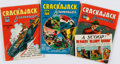 Books:Comics - Golden Age, [Comic Books.] Group of Three Issues of Crackajack Funnies,No. 21-23. Poughkeepsie, NY: Whitman Publishing Co.,...