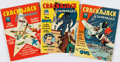 Books:Comics - Golden Age, [Comic Books.] Group of Three Issues of Crackajack Funnies.Poughkeepsie, NY: Whitman Publishing Co., 1940-1941....