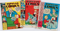 [Comic Books.] Group of Three Issues of Popular Comics, No. 38-40. New York: Dell Pu