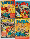 Books:Comics - Golden Age, [John Carter of Mars]. Group of Four Issues of The Funnies. NewYork: Dell Publishing Co., 1941....