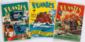 Books:Comics - Golden Age, [John Carter of Mars]. Group of Three Issues of The Funnies. NewYork: Dell Publishing Co., 1940....