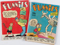 Books:Comics - Golden Age, [John Carter of Mars]. Pair of Issues of The Funnies. New York:Dell Publishing Co., 1939....