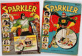 Books:Periodicals, [Comic Books.] Pair of Issues of Sparkler Comics. New York:Sparkler Comics, 1941. Average Condition: G/VG....