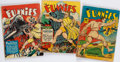 Books:Comics - Golden Age, [John Carter of Mars]. Group of Three Issues of The Funnies. NewYork: Dell Publishing Co., 1940-1941. Average Condition: ...