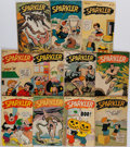 Books:Comics - Golden Age, [Comic Books.] Group of Nine Issues of Sparkler Comics. New York: United Feature Syndicate, 1945-1946. Average...