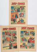 Books:Comics - Golden Age, [Comic Books.] Group of Three Issues of Jeep Comics, Numbers18, 26, and 36. King Features Syndicate, 1945-1...