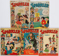 Books:Comics - Golden Age, [Tarzan]. Group of Five Issues of Sparkler Comics. New York:United Feature Syndicate, 1942-1944. Average Cond...