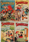 Books:Comics - Golden Age, [Tarzan]. Group of Four Issues of Sparkler Comics. New York:United Feature Syndicate, 1944. Average Condition...