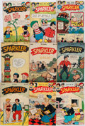 Books:Comics - Golden Age, [Comic Books.] Group of Nine Issues of Sparkler Comics. NewYork: United Feature Syndicate, 1946-1947. Average...