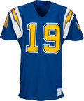 Football Collectibles:Uniforms, 1970's Johnny Unitas Team Issued San Diego Chargers Jersey - Kindler Collection....