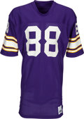 Football Collectibles:Uniforms, 1980's Alan Page Minnesota Vikings Jersey - Kindler Collection....