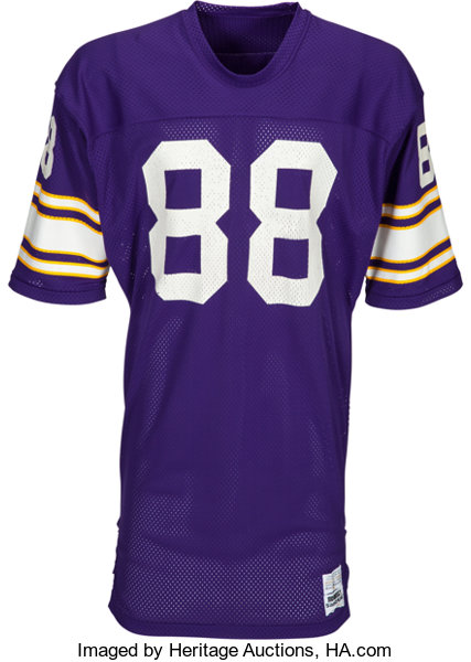 Minnesota Page Heritage - 1980's Kindler Lot Collection Alan Vikings 54675 Jersey Auctions