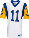 Football Collectibles:Uniforms, Circa 1990's Jim Everett Team Issued Los Angeles Rams Jersey - Kindler Collection. ...