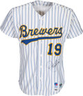 Autographs:Bats, 1993 Robin Yount Game Worn Milwaukee Brewers Jersey. ...