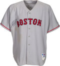Baseball Collectibles:Uniforms, 2004 Manny Ramirez Game Worn & Signed Boston Red Sox Jersey....