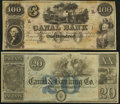 Obsoletes By State:Louisiana, New Orleans, LA- New Orleans Canal & Banking Company $20 18__ and $100 18__ Remainders. ... (Total: 2 notes)