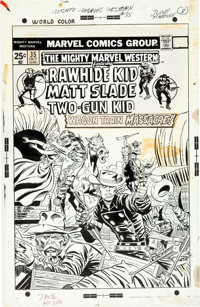 Larry Lieber and Mike Esposito The Mighty Marvel Western #35 Cover Original Art (Marvel Comics, 1974)