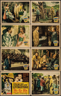 """Stanley and Livingstone (20th Century Fox, 1939). Lobby Card Set of 8 (11"""" X 14""""). Adventure. ... (Total: 8 It..."""