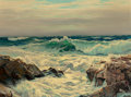 Western:19th Century, Frederick Judd Waugh (American, 1861-1940). Surf on a Windward Shore. Oil on canvasboard. 30 x 40 inches (76.2 x 101.6 c...