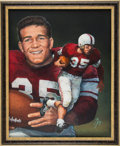 Football Collectibles:Others, 1952 Billy Vessels Heisman Trophy Winner Original Artwork by Ted Watts....