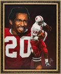 Football Collectibles:Others, 1972 Johnny Rodgers Heisman Trophy Winner Original Artwork by Ted Watts....