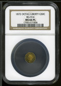 California Fractional Gold: , 1872 50C BG-914 MS66 NGC. ...