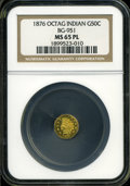 California Fractional Gold: , 1876 50C Indian Octagonal 50 Cents, BG-951, High R.5, MS65Prooflike NGC....