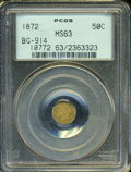 California Fractional Gold: , 1872 50C Liberty Octagonal 50 Cents, BG-914, R.4, MS63 PCGS. ...