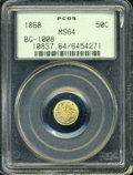 California Fractional Gold: , 1868 50C Liberty Round 50 Cents, BG-1008, R.5, MS64 PCGS. ...