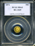 California Fractional Gold: , 1872 50C Indian Round 50 Cents, BG-1049, R.4, MS63 PCGS....