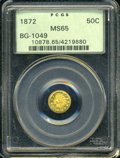 California Fractional Gold: , 1872 50C Indian Round 50 Cents, BG-1049, R4, MS65 PCGS. ...
