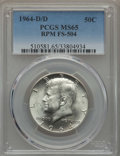 Kennedy Half Dollars, 1964-D/D 50C Repunched Mintmark, FS-504, MS65 PCGS. PCGSPopulation: (15/5). Mintage 156,205,440....