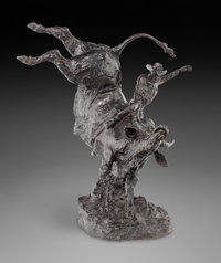 Bob Scriver (American, 1914-1999) An Honest Try, 1968 Bronze with brown patina 30 inches (76.2 cm