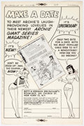 Original Comic Art:Panel Pages, Harry Lucey Archie Giant Series Magazine House AdvertisementPanel Page Original Art (Archie Comics, 1961)....