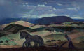 Fine Art - Painting, American:Modern  (1900 1949)  , Arthur Meltzer (American, 1893-1989). Pennsylvania Plowing.Oil on canvas. 21-3/4 x 36 inches (55.2 x 91.4 cm). Signed l...