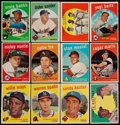 Baseball Cards:Lots, 1959 Topps Baseball Collection (412) With Stars & HoFers....