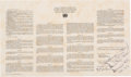 Explorers:Space Exploration, Apollo 12 Flown Space Treaty Originally from the Personal Collection of Mission Lunar Module Pilot Alan Bean, Signed and Certi...