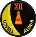Explorers:Space Exploration, Gemini 12 Flown Embroidered Mission Insignia Patch Directly fromthe Personal Collection of Mission Commander James Lovell, wi...